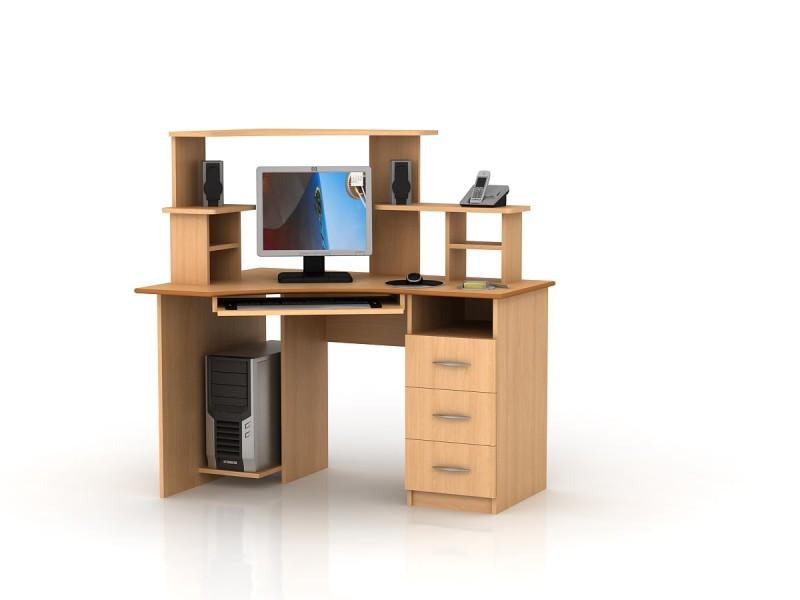 Письменный стол для школьника Размеры: В : 1491 Ш : 1333 Г : 840 Имеются левостаренние и правосторонние варианты