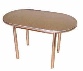 Мебель Кирово-Чепецк - Стол обеденный ОВАЛ с хром. ногами